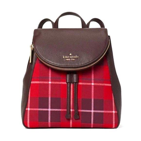 Kate Spade New York Leila Medium Flap Leather Backpack